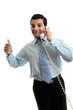 Successful businessman on telephone