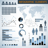 Big Vector set of Infographic elements poster