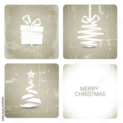 Simple vector grunge christmas card