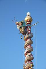Dragon lamp pole from Chanthaburi Thailand.
