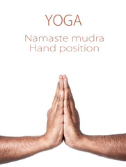 Yoga Namaste prayer mudra