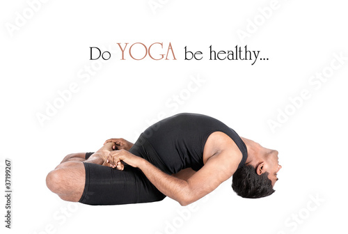 Yoga matsyasana fish pose