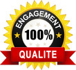 "Sticker ""Engagement 100% Qualité"""
