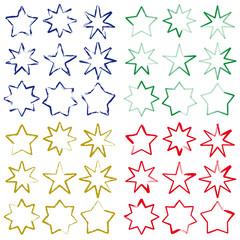 set di stelle a pennello