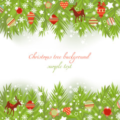 Christmas tree borders vector illustration