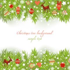 Christmas tree borders vector illustration