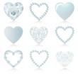 blue heart set