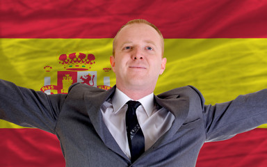 happy businessman because of profitable investment in spain stan