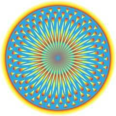 Sunburst Circle  (motion illusion)
