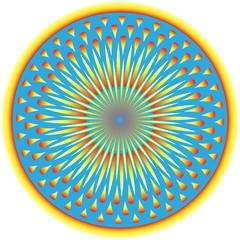 Sunburst Circle  (motion illusion)
