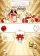 Weihnachtsflyer Gold