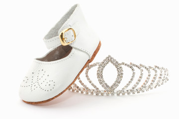 Slipper and crown