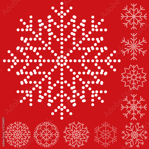 Snowflake set, vector illustration