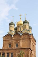 orthodox church in sun light