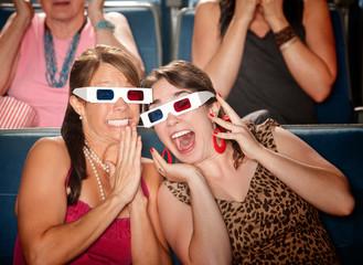 Excited Women Watch 3d Movie