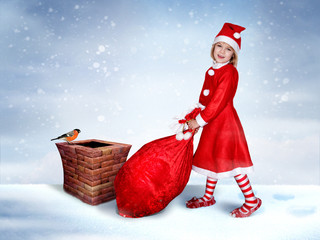 The Little miss Santa