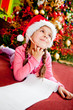 Girl writing a letter to Santa
