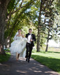 Bride and Groom Running