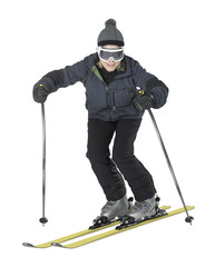 funny girl while skiing