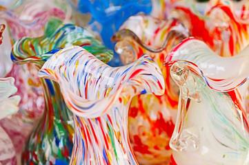 Glass jugs, Murano, Venice, Italy