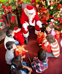 Santa Claus with the kids