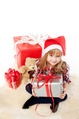Cute girl with presents