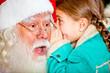 Telling Santa a secret