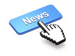 Hand-shaped mouse cursor press News  button