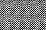 Black and white chevron patterned background poster