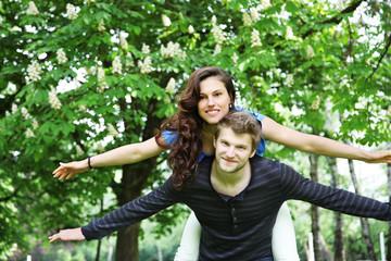 verliebtes Paar im Glück