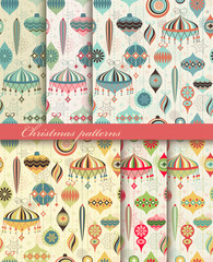 Christmas seamless retro patterns