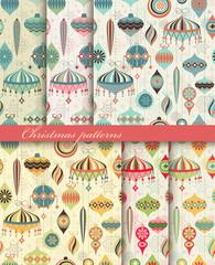 Christmas seamless retro patterns