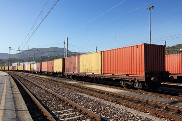 containers in railway station
