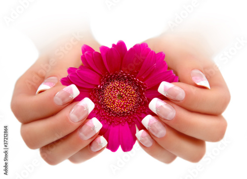 Nageldesign Rose Weiss