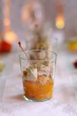 verrine de foie gras et chutney de mangues 2