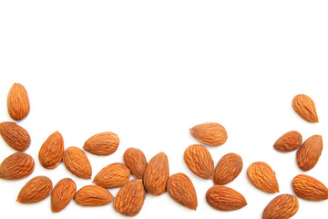 Almond kernels background