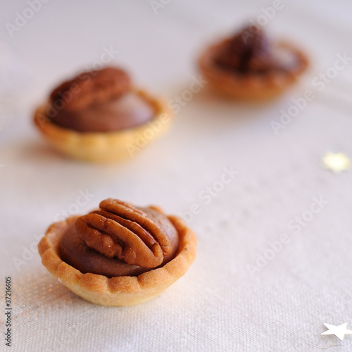 tartelettes chocolat et noix