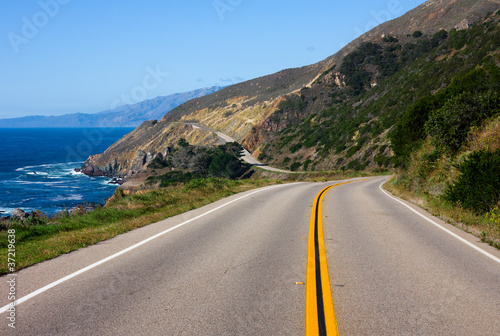Highway through California Coas