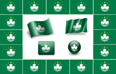 Flag of Macau. icon set