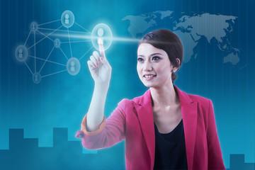 Social network conceptual photo