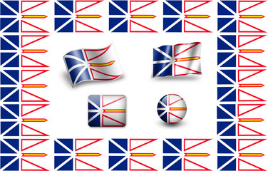 Flag of Newfoundland and Labrador. icon set