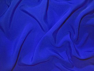 Dull blue fabric (artificial silk)