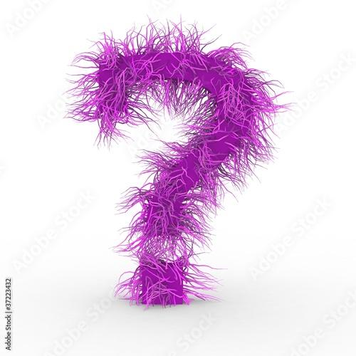 texteffekt haare pink buchstabe fragezeichen von virtua73