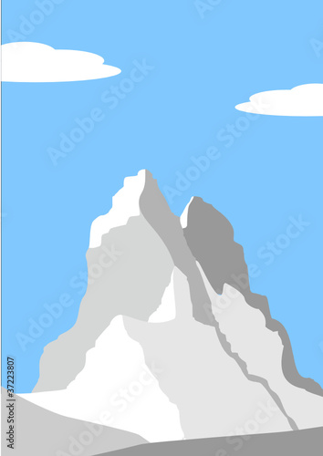 Beautiful peak in Alps - mountain landscape