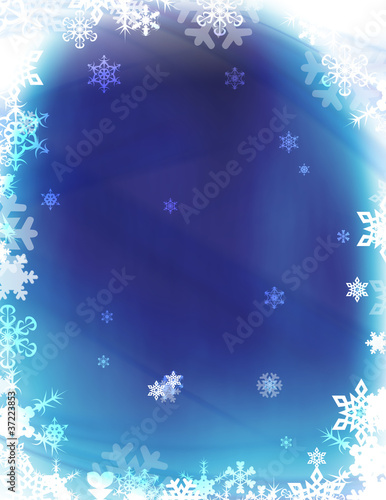 Winter Wonderland Snowflakes Background