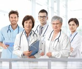 Portrait of mixed aged medical team