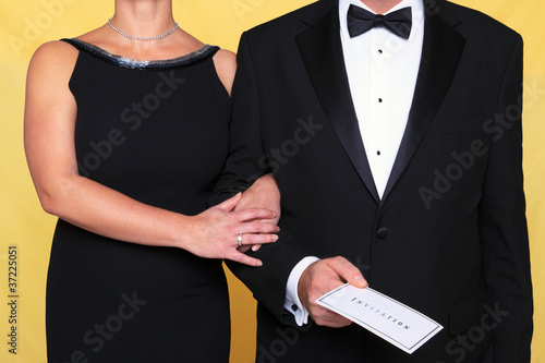 Black tie evening dress invitation