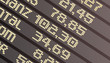 Börse Anzeigetafel