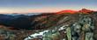 Low Tatras in sunset - Durkova peak - Slovakia mountain.
