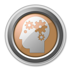 "Bronze 3D Style Button ""Mental Health"""